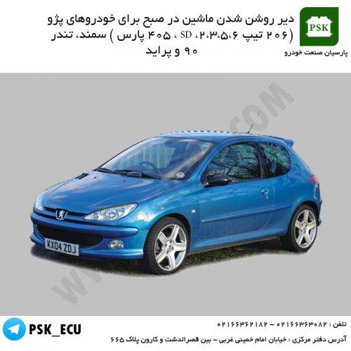 آموزش تعمیرات ecu خودرو - دیر روشن شدن ماشین در صبح برای خودروهای پژو (206 تیپ 2،3،5،6، SD ، 405 پارس ) سمند، تندر 90 و پراید